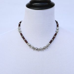 FREE WITH BUNDLE Spiked Grunge Beaded Necklace